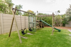 Children's jungle gym and play area